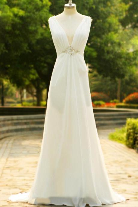 Real Photo Beach Wedding Dress Sexy Backless Bohemian Style Bridal Gown Simple Cheap Country Western vestido de noiva CS587